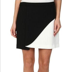 BCBGMAXAZRIA Kiri Color Block Petal Skirt